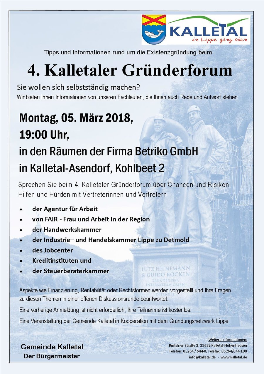 Kalletaler Gründerforum